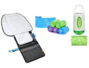 BRICA goPad Nappy Changer with Arm & Hammer Nappy Bag Dispenser and Refills
