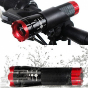 Superbly 3 Modes 240LM Popular LED Bike Light Super Bright Night Torch Front Flashlight Colour Red with Mount