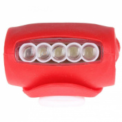 1Pc Superb 3 Mode 7x LED Popular Silicone Bike Light Rear Bicycle Safety Cycling Headlight Colour Red