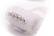 1Pc Uppermost 3 Mode 7x LED Popular Silicone Bike Light Frog Lamp Front Side Brightness Colour White