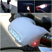 1Pc Bang-up 3 Mode 7x LED Popular Silicone Bike Light Brightness Safety Cycling Headlight Colour White
