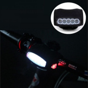 1Pc Great 3 Mode 7x LED Popular Silicone Bike Light Safety Cycling Warning Indicator Rear Bicycle Colour Black