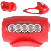 1Pc Sumptuous 3 Mode 7x LED Popular Silicone Bike Light Waterproof Front Side Super Bright Colour Red