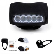 1Pc Imperial 3 Mode 7x LED Popular Silicone Bike Light Front Side Warning Indicator Easy to Use Colour Black