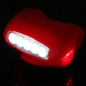 1Pc Transcendental 3 Mode 7x LED Popular Silicone Bike Light Easy to Use Headlight Super Bright Colour Red