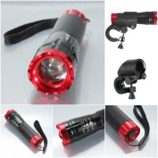 Perfectly 3 Modes 240LM Popular LED Bike Light Super Bright Front Flashlight Night Torch Colour Red with Mount