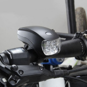 1Pc Foremost 3 Modes 5x LED Bike Light Front Headlight Waterproof Torch Bicycle Lamp Colour Black