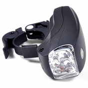 1Pc Prime 3 Modes 5x LED Bike Light Cycling Flashlight Waterproof Torch Bicycle Lamp Colour Black