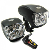 1Pc Luxurious 3 Modes 5x LED Bike Light Super Bright Cycling Flashlight Front Headlight Colour Black