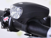 1Pc Deluxe 3 Modes 5x LED Bike Light Cycling Flashlight Super Bright Front Headlight Colour Black
