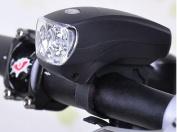 1Pc Deluxe 3 Modes 5x LED Bike Light Cycling Flashlight Super Bright Front Headlight Colour Black