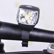 1Pc Topnotch 3 Modes 5x LED Bike Light Super Bright Front Headlight Cycling Flashlight Colour Black