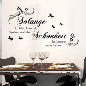 Aiwall 9317 Art German Quote Wall Stickers DIY Home Decorations Wall Decals Living Room Quote