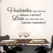 Aiwall 9316 Art German Quote Wall Stickers DIY Home Decorations Wall Decals Living Room Quote