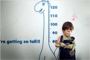 Newsee Decals Dinosaur Height Chart Wall Stickers Decor Decals Kids Bedroom Nursery Dark Blue