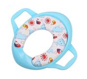 Dofull Baby Kids Child Potty Training Toilet Seat Mat Cute Pattern with Handles
