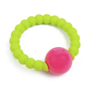 Chewbeads Mercer Rattle, Chartreuse