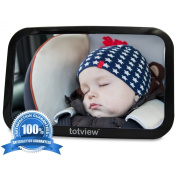Baby Back Seat Car Mirror *totviewTM* For Rear Facing Infant Seat by GroCreations. Large, Lightweight Convex Safety Mirror for a perfect view of your child. Simple to Instal, Fully Adjustable & Shatterproof. A MUST for Every Parent! Try it out TODAY!