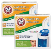 Munchkin Arm & Hammer Nappy Pail Refill Bags, 40-Count