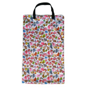 Large Hanging Wet Dry Bag for Cloth Nappies or Laundry, Birds
