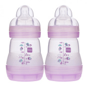 MAM Anti-Colic Bottle, Pink, 150ml, 2-Count