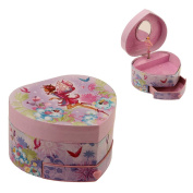 Heart Shaped Musical Fairy Girl Jewellery Box with Drawer By Haysom Interiors