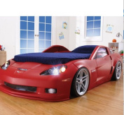 Corvette Convertible Toddler to Twin Bed with Lights