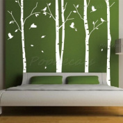 Set of 4 Big Birch Trees in White- 2.6m nursery wall decals tree vinyl wall art wall decor sticker wall vinyl stickers pop baby gift
