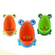Super. Item Cute Frog Design Easy Wash Children Toilet Training Kids Independent Urinal Plastic for Boys Pee