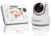 Hitachi Baby Monitor with Night Vision and Auto Tracking, White/Grey