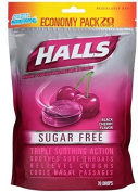 Halls Sugar Free Menthol Cough Drops - Black Cherry - 70 Count Economy Pack