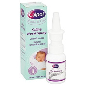 Calpol 0+ Month Saline Nasal Spray Unblocks Nose Natural Congestion Relief