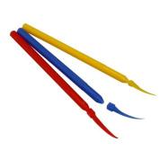 COTISEN 3Size 300 PCS Dental Supply Long Handle Poly Plastic Wedges Interdental