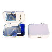 COTISEN Denture Clean Retainer Box Orthodontic Mouth Guard Case with Mirror