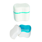 COTISEN Convenience Portable Dental Mouth Tray Orthodontic Retainer Dentures Case Box