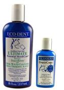 Eco-Dent Premium Oral Care Mint Rinse And Toothpowder Bundle