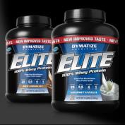 Dymatize Nutrition Elite Whey Protein, Chocolate & Vanilla Twinpack, 4.5kg Total