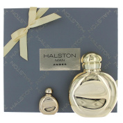 Halston Man Amber By Halston For Men Edt Spray 120ml & Eau De Toilette .740ml Mini