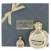 Halston Man Amber By Halston For Men Edt Spray 120ml & Eau De Toilette .740ml Mini