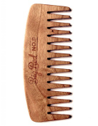 Big Red Beard Combs - Handcrafted No. 9 Beard Comb (Available in Cherry or Walnut)
