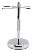 Estilo Chrome Razor and Shaving Brush Stand