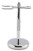 Estilo Chrome Razor and Shaving Brush Stand