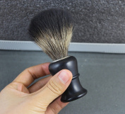 1 Piece PURE BADGER HAIR SHAVING BRUSH Black.