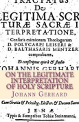 On the Legitimate Interpretation of Holy Scripture