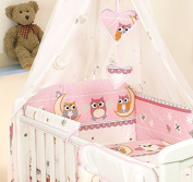 10 PCS PRO COSMO BEDDING SET BABY COT BED/COT QUILT BUMPER CANOPY +HOLDER