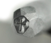 "Cross Steel Punch Stamp 1/8"" - 3mm Hardend for Hand Pressing Gold Silver Religious Jewellery Bullion Leather Wood"