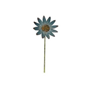 Craft Outlet Tin Daisy Flower Pick, 90cm , Blue