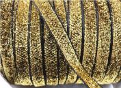 25y Sparkle Glitter Velvet Ribbon Headband Clips Bow 1cm -(pick Colour)
