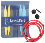 Love2Knit Interchangeable Knitting Needle Set, US 17 & 19