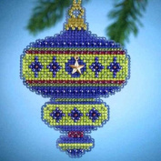 Mill Hill Jewels Christmas Ornament Counted Cross Stitch Kit w/ Glass Beads & Charm Peridot MH164304